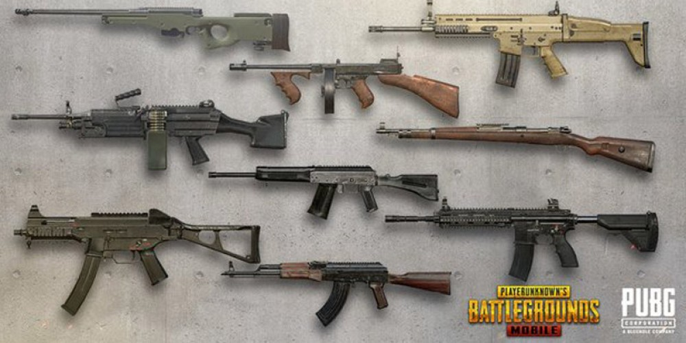 The best weapons to use in PUBG