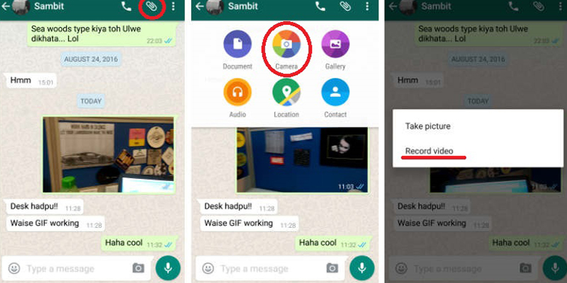 WhatsApp Now Supports Customised GIF Sharing.