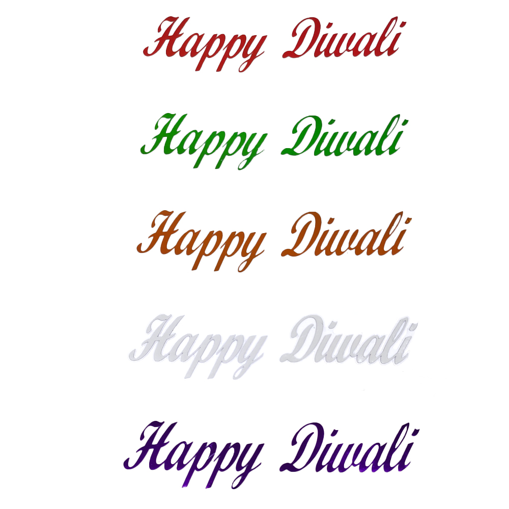 Comet Busters Happy Diwali Gift Stickers for Envelopes, Gift Bags, Diwali Decorations (STK003)