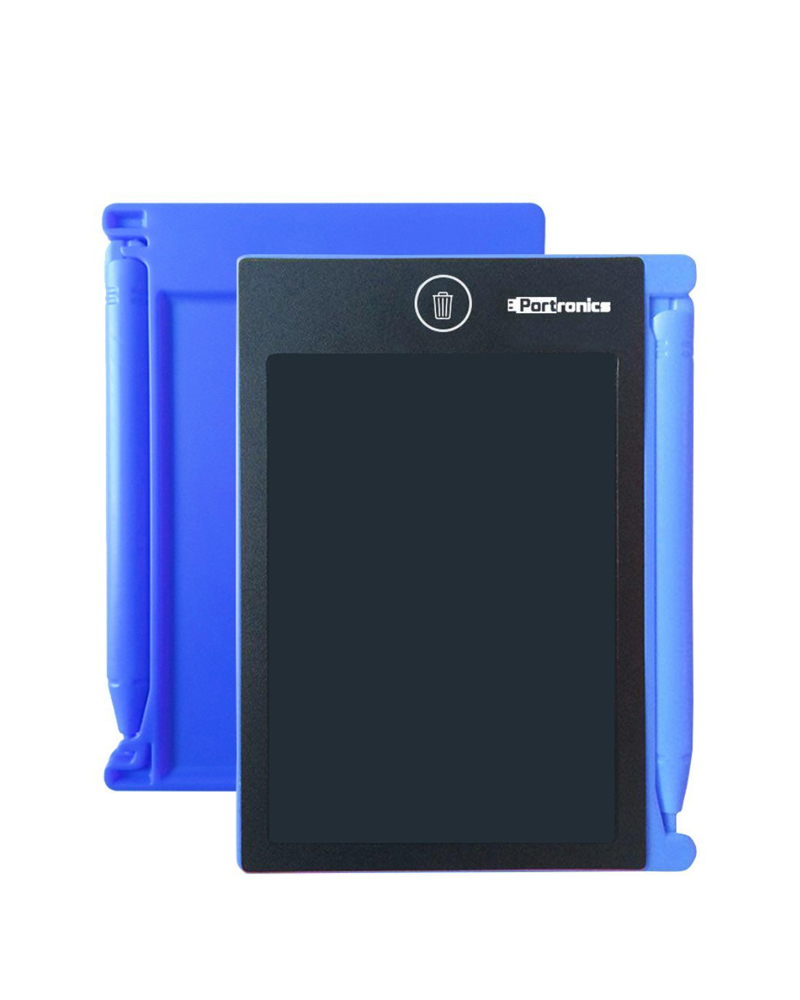 Portronics Ruffpad POR880-881 | 4.4 inch LCD | Paperless Ruffpad | E-writer | Blue