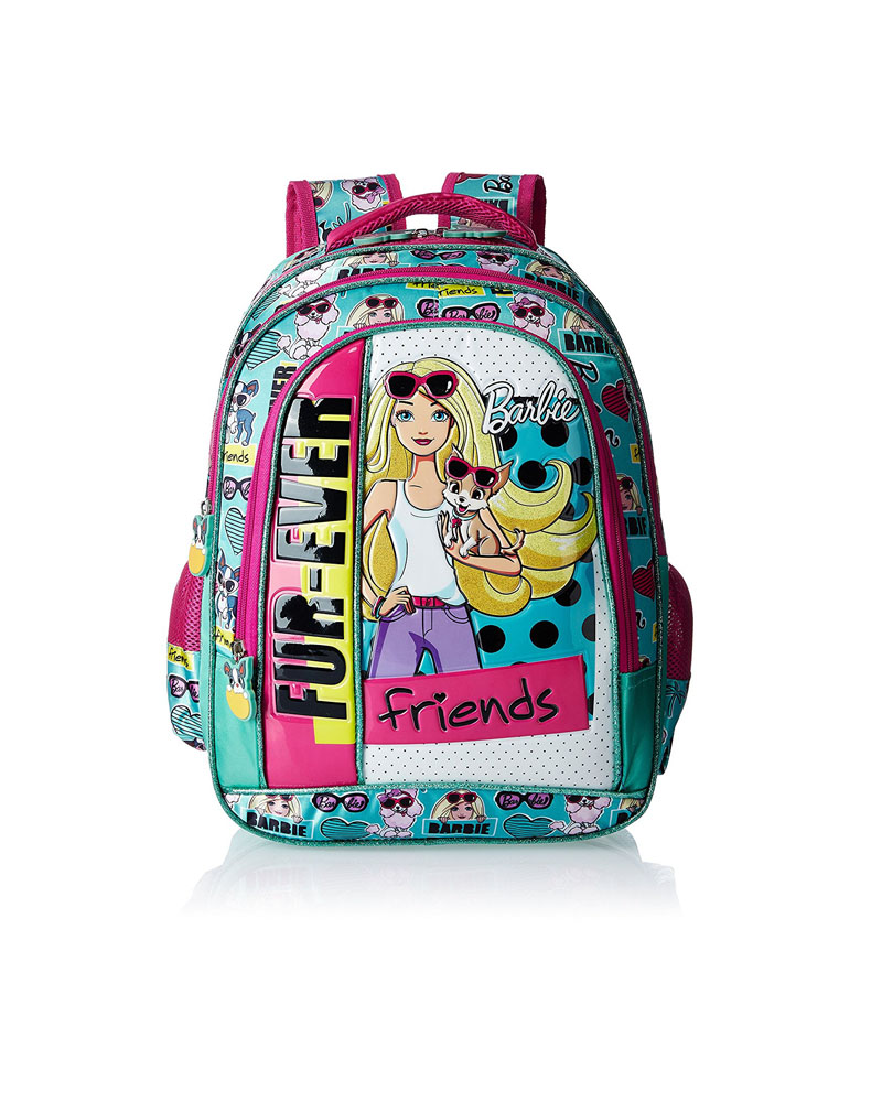 Turquoise Barbie House: Barbie Polyester Turquoise And Pink Children's Bag (Age