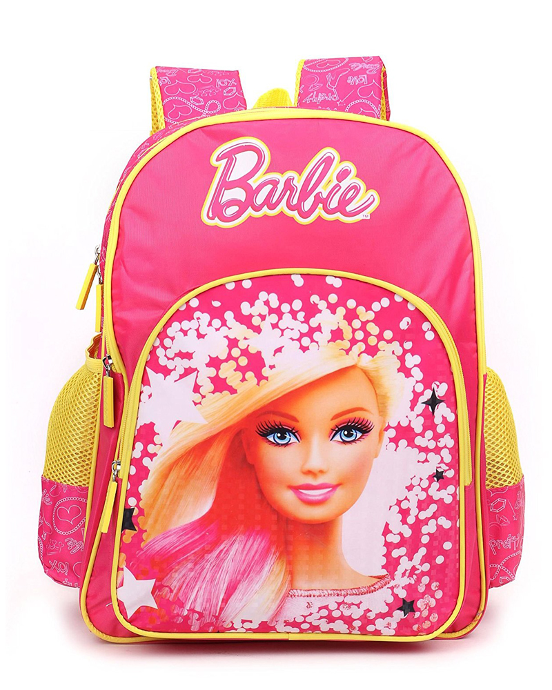 491f3db3aaa0 Barbie Polyester Pink and Yellow School Bag (Age group  3-5 yrs)