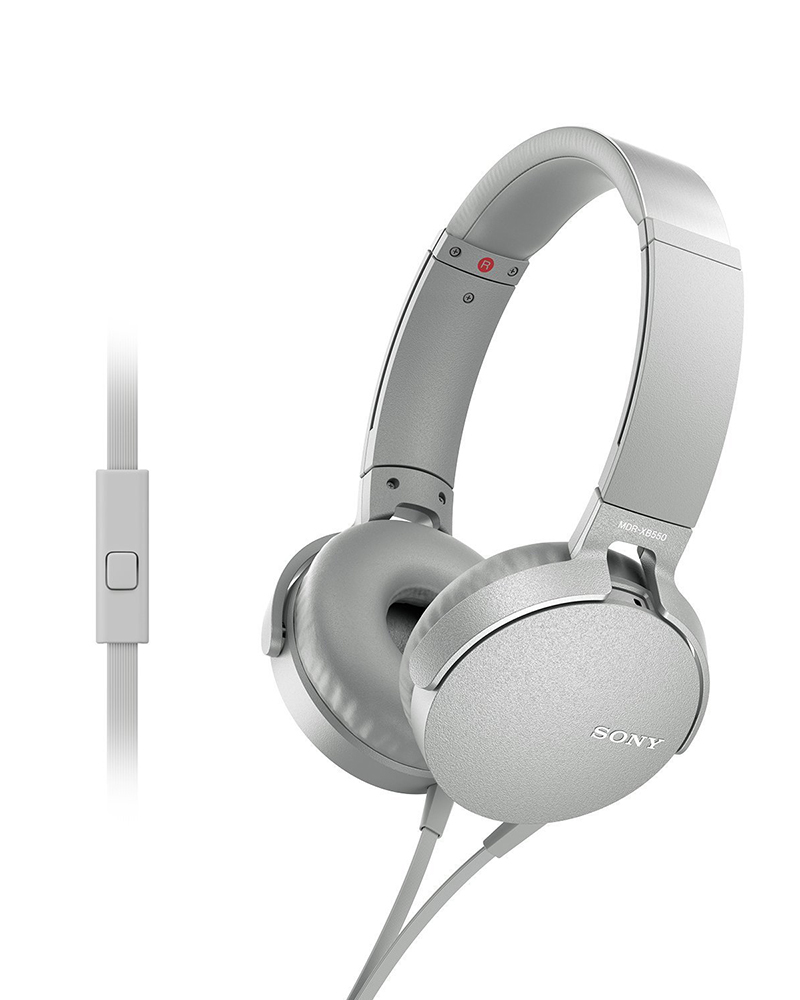 Sony MDR-XB550AP   Headphones With Mic   White  