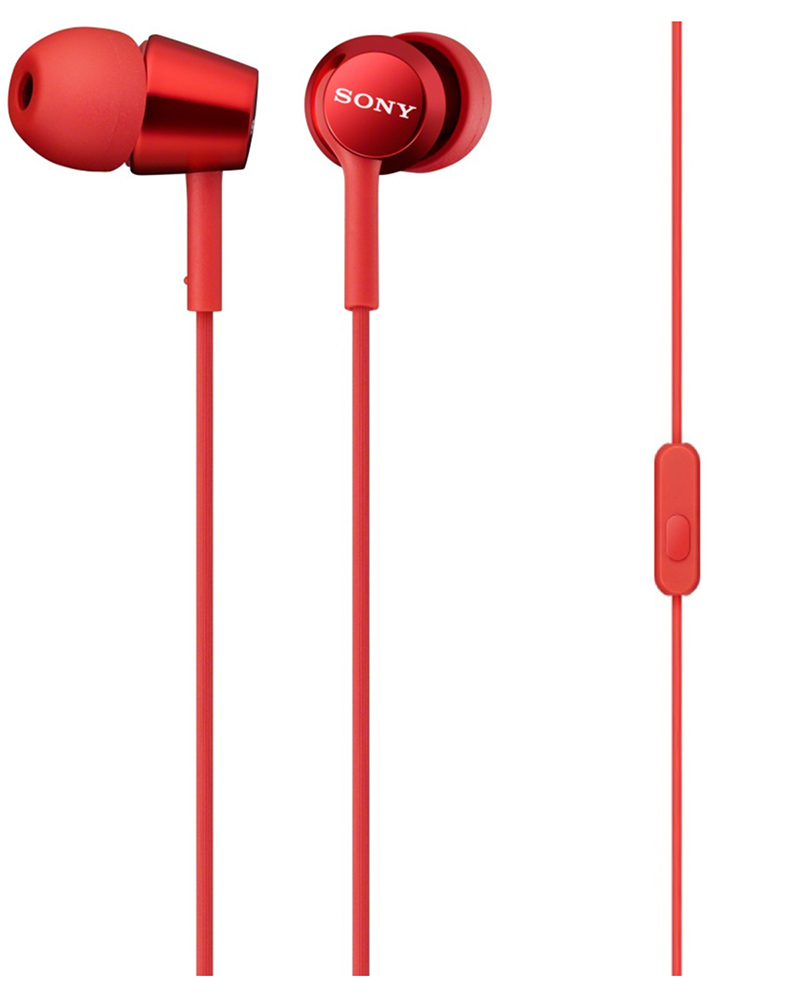 Sony Mdr Ex150ap In Ear Headphones With Mic Red Earphone Xb80bs Extra Bass Sports Bluetooth