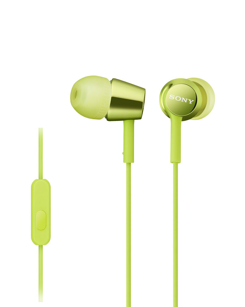 Sony Mdr Ex150ap In Ear Headphones With Mic Green Earphone Xb70bt Extra Bass Bluetooth