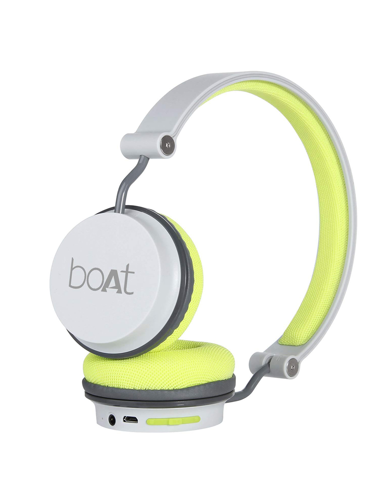 Boat Super Bass Rockerz 410 Bluetooth On Ear Headphones With Mic Grey Green