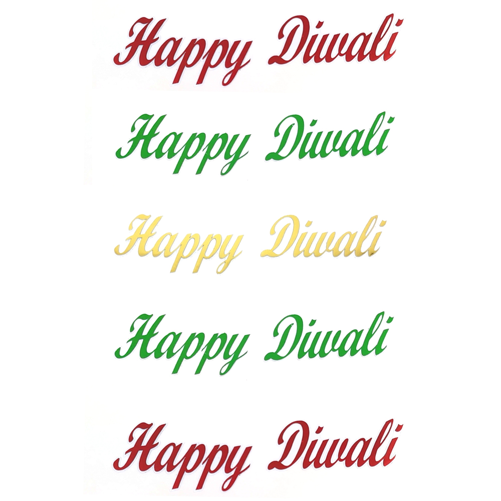 Comet Busters Happy Diwali Gift Stickers for Envelopes, Gift Bags, Diwali Decorations (STK005)