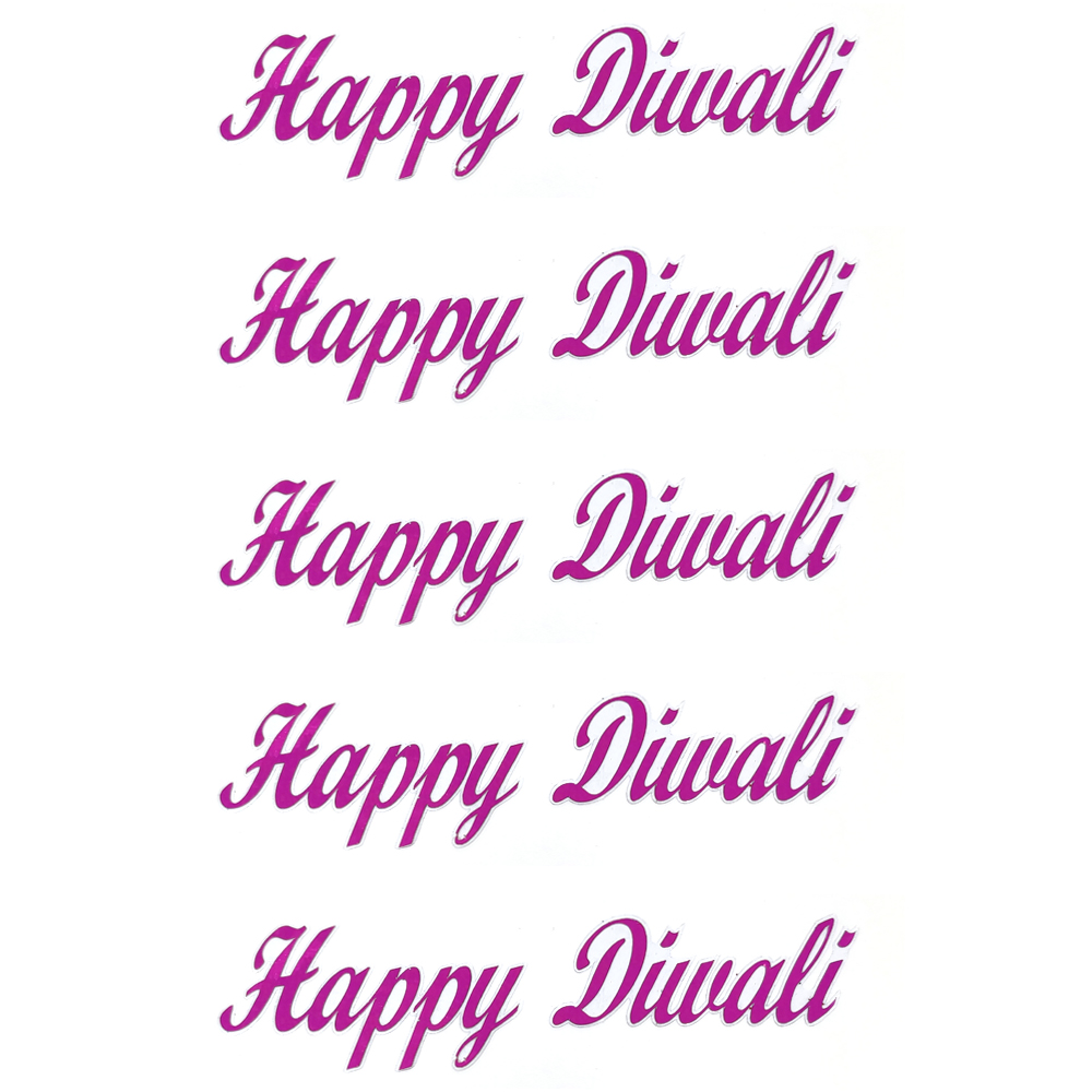 Comet Busters Happy Diwali Gift Stickers for Envelopes, Gift Bags, Diwali Decorations (STK001)