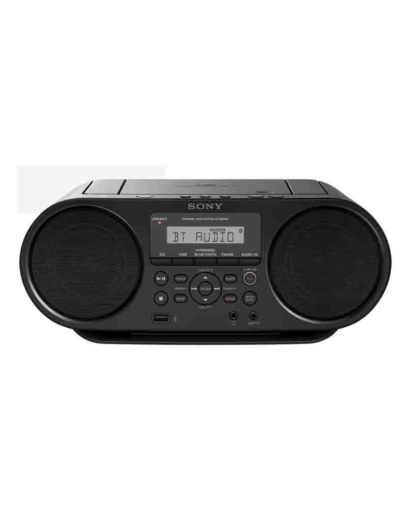 sony zs rs60bt mp3 cd radio player with usb black. Black Bedroom Furniture Sets. Home Design Ideas