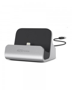 Portronics Dock Lightning Connector | Grey/Black