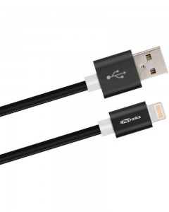 Portronics Turtle | 1m | Lightning Cable | Black |