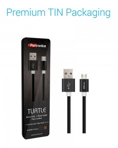 Portronics Turtle | 2m | Micro USB Cable | Black |
