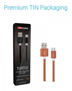 Portronics Turtle | 1m | Micro USB Cable | Brown |