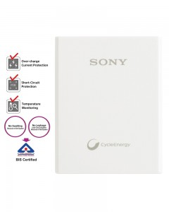 Sony CP-E3 Powerbank with polymer battery | White