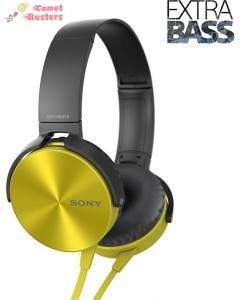 Sony MDR-XB450 | On-Ear Headphones | Yellow |