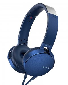 Sony MDR-XB550AP | Headphones With Mic | Blue |