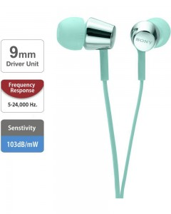 Sony MDR EX155 | In-Ear Headphones | Light Blue |