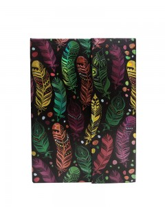 Comet Busters Beautiful Feather Printed Black Notebook Diary