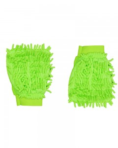 Comet Busters Microfibre Super Mitt Double Sided Green Cleaning Gloves (2 Pieces)