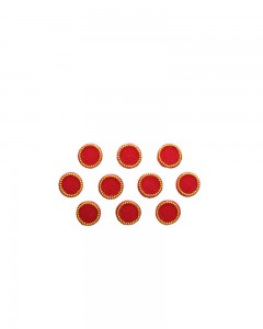 Comet Busters Red Round Wedding Bindi
