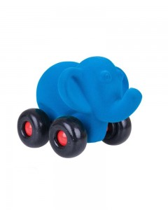 Rubbabu Aniwheel Elephant Small (Blue)
