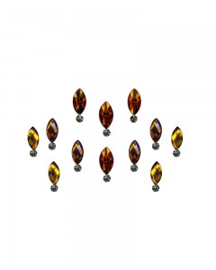 Comet Busters Golden Swarovski Crystal Bindis With Diamond