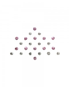Comet Busters Diamond Collection Pink Silver Dot Bindi