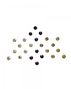 Comet Busters Crystal Collection Violet Golden Dot Bindi