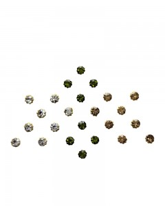 Comet Busters Diamond Collection Olive Green Golden Dot Bindi