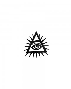 Comet Busters Temporary Illuminati Tattoo