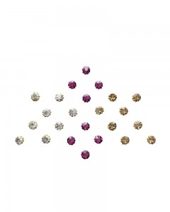 Comet Busters Pink Golden Stone Bindi For Women
