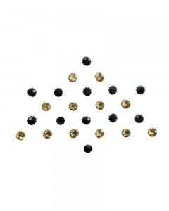 Comet Busters Black Golden Diamond Stone Bindi