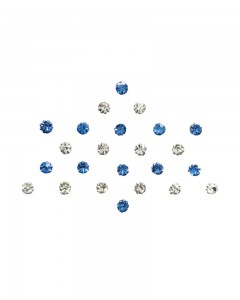 Comet Busters Diamond Collection Blue Silver Bindi