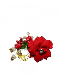 Comet Busters Beautiful Wedding Rose Side Hair Clip for Women
