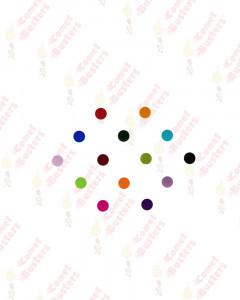 Comet Busters Basic Round Multicolor Bindi (4mm)