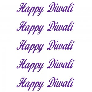 Comet Busters Purple Happy Diwali Gift Stickers for Envelopes, Gift Bags, Diwali Decorations (STK010)