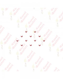 Comet Busters Traditional Red Moon Bindis (5mm) (BIN1030)