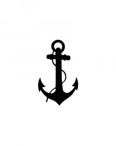 Comet Busters Temporary Anchor Tattoo