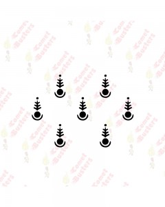 Comet Busters Traditional Style Black Bindis (BIN1037)