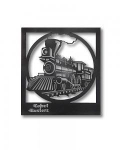Comet Busters Metal Wall Mounted Hanging CNC Cutting Train Design Wall Decor (13 inch x 12 inch)