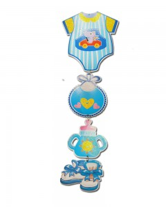 Comet Busters Baby Shower Decorations Baby Boy Blue Hanging (Set of 1)