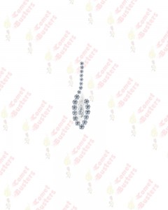 Comet Busters Premium Long Silver Bridal Bindi Studded with Silver Stones
