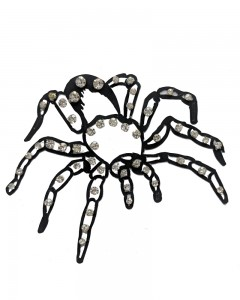 Comet Busters Black Spider Temporary Body Tattoo Skin Jewellery