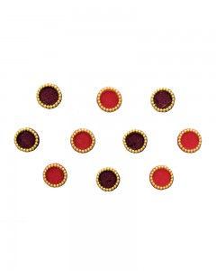 Comet Busters Round Red Maroon Bindi For Women