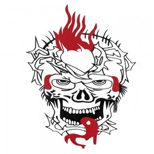 Comet Busters Red and Black Body Water Tattoo (BJ126)