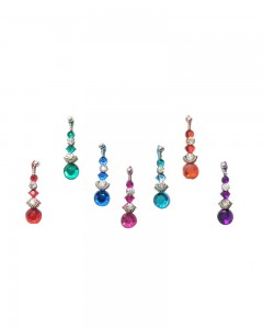 Comet Busters Beautiful Multicolored Diamond Bindi