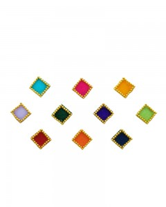 Comet Busters Beautiful Square Multicolored Bindi