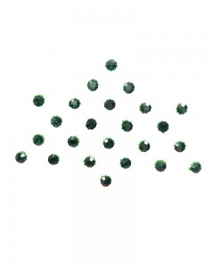 Comet Busters Diamond Collection Small Stone Dark Green Bindi
