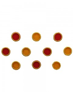 Comet Busters Red Yellow Round Bindi