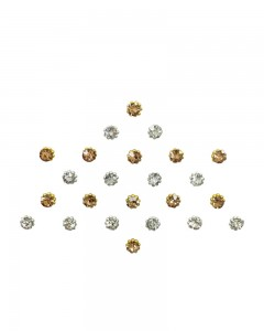 Comet Busters Diamond Collection Gold Silver Bindi